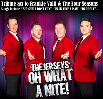 Tribute To The Jersey Boys and Dinner 2020